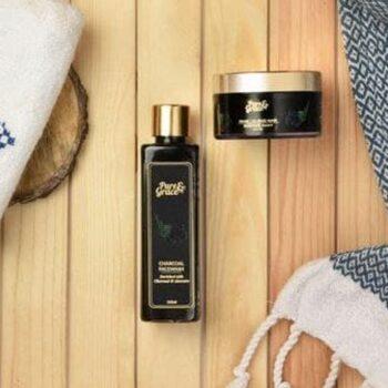Pure & Grace Rejuvenating Charcoal : Face Wash and Face Mask Kit
