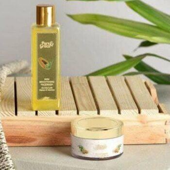 Pure & Grace Skin Brightening Face wash & Scrub Kit (Skin Brightening Facewash & Walnut Scrub)