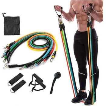 Resistance Bands Set- Resistance Exercise Bands with Door Anchor, Handles for Resistance Training (5pcs)