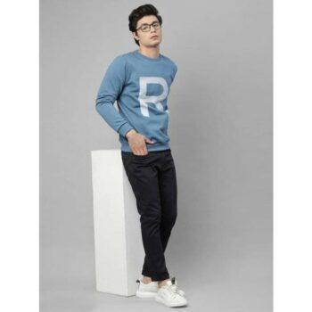 Rigo Fleece Solid Full Sleeves Regular Fit Men's Sweatshirt