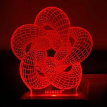Ring Flower LED 3D Illusion Night Lamp
