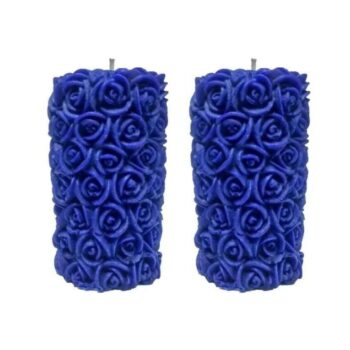 Rose Pillar Scented Smokeless Candle (Pack of 2)