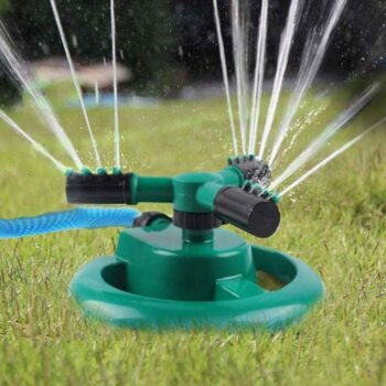 Rotating Adjustable Round 3 Arm Lawn Water Sprinkler for Watering Garden Plants