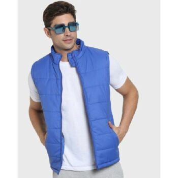 Royal Blue Sleeveless Puffer Jacket
