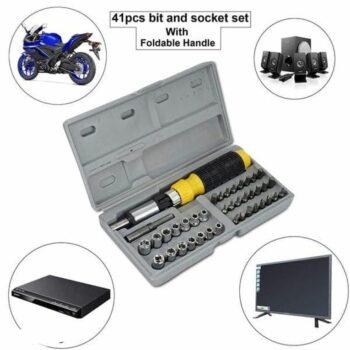 Screwdriver Tool Kit-Multipurpose 41 in 1 Combination Tool Kit Screwdriver and Socket Set