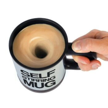 Self Stirring Coffee Mug Cup - Funny Electric Stainless Steel Automatic Self Mixing & Spinning Home Office Travel Mixer Cup Best Cute Christmas Birthday Gift Idea for Men Women Kids 8 oz