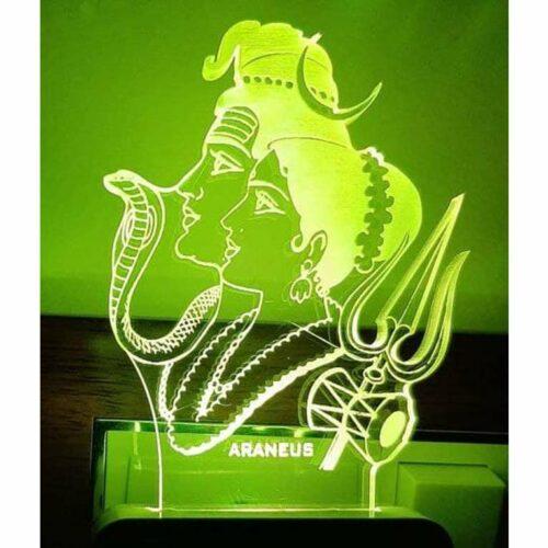 Shiv Parvati LED 3D Illusion Night Lamp