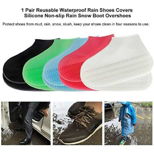 Silicone Reusable Anti skid Waterproof Boot Cover Shoe Protector 4