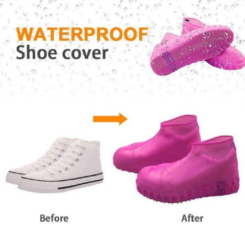 Silicone Reusable Anti skid Waterproof Boot Cover Shoe Protector 5
