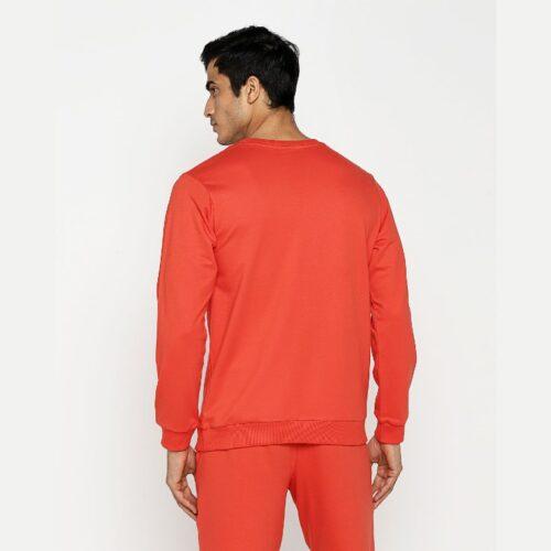 Smoke Red Fleece Sweatshirt