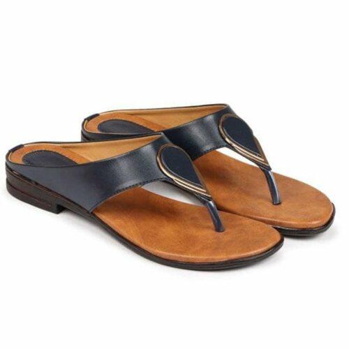 Solid Flat Sandal for Women