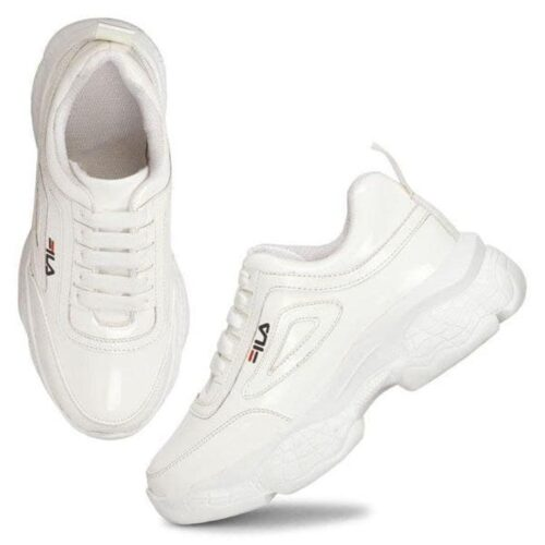 Solid PVC Sport Shoes for Women 26
