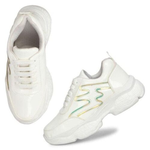 Solid PVC Sport Shoes for Women 38