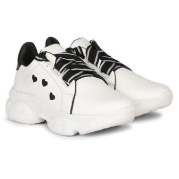 Solid PVC Sport Shoes for Women