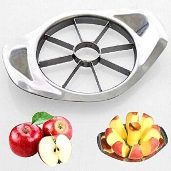 Stainless Steel Apple Cutter Slicer with 8 Blades and Handle