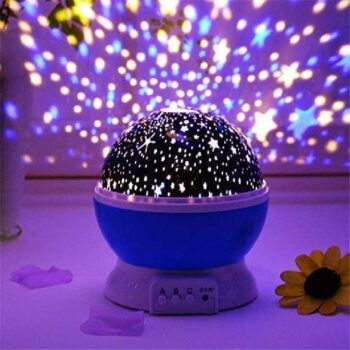 Star Projector Night Lights for Kids, Starry Moon Rotating Nightlight, Star Sky Lamp for Decorating Birthdays, Christmas and Parties, Night Lamp, Night Light Star Projector lamp, Star Moon Light