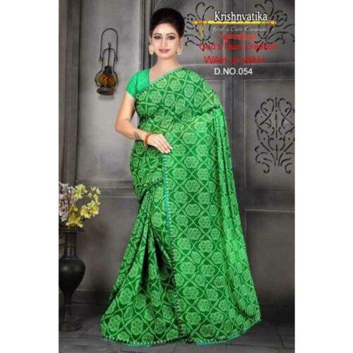Stunning Bandhani Printed Georgette Saree