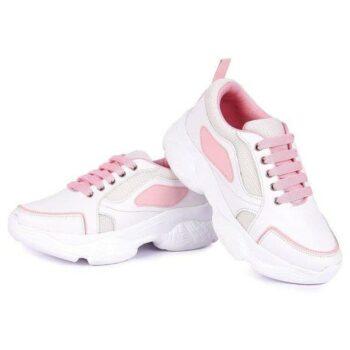 Stylish PVC White Women's Sneaker