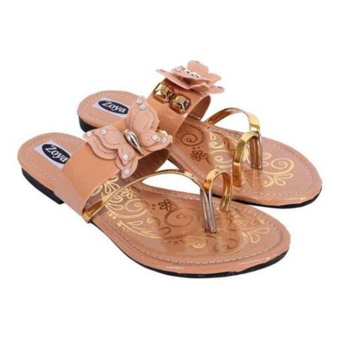 Synthetic Printed Flat Sleepers for Women