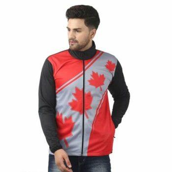 Tom Scott Polyester Blend Printed Full Sleeves Jacket for Men