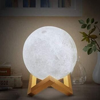 USB RechargeUSB Rechargeable Moon Lamp Color Changing Sensor Touch Decoration Ball Night with Wooden Stand Lamps for Bedroom Night lamp Bedroom Lights for Table (12 cm)able Moon Lamp Color Changing Sensor Touch Decoration Ball Night with Wooden Stand Lamps for Bedroom Night lamp Bedroom Lights for Table (15 cm)