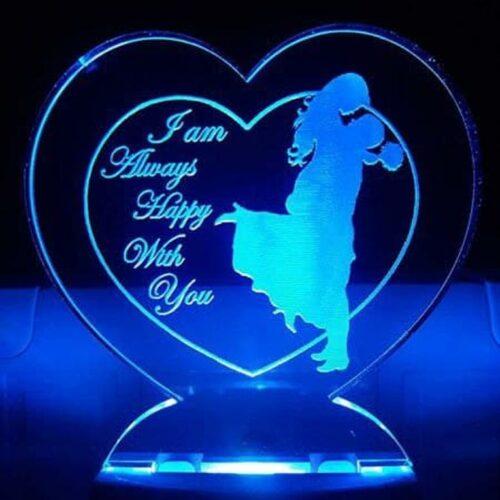 Valentine Gift LED 3D Illusion Night Lamp