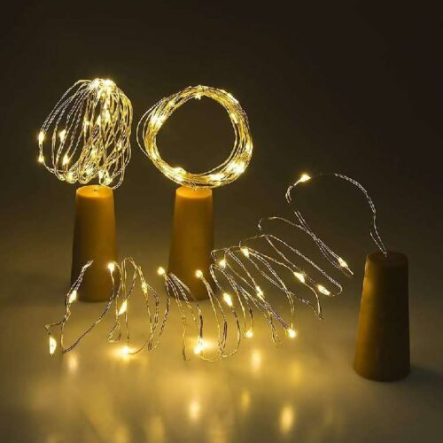 Wine Bottle Cork Fairy Lights Copper Wire String Battery Operated for Diwali Bedroom Decoration Warm White 1