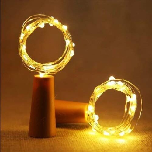 Wine Bottle Cork Fairy Lights Copper Wire String Battery Operated for Diwali Bedroom Decoration Warm White 2