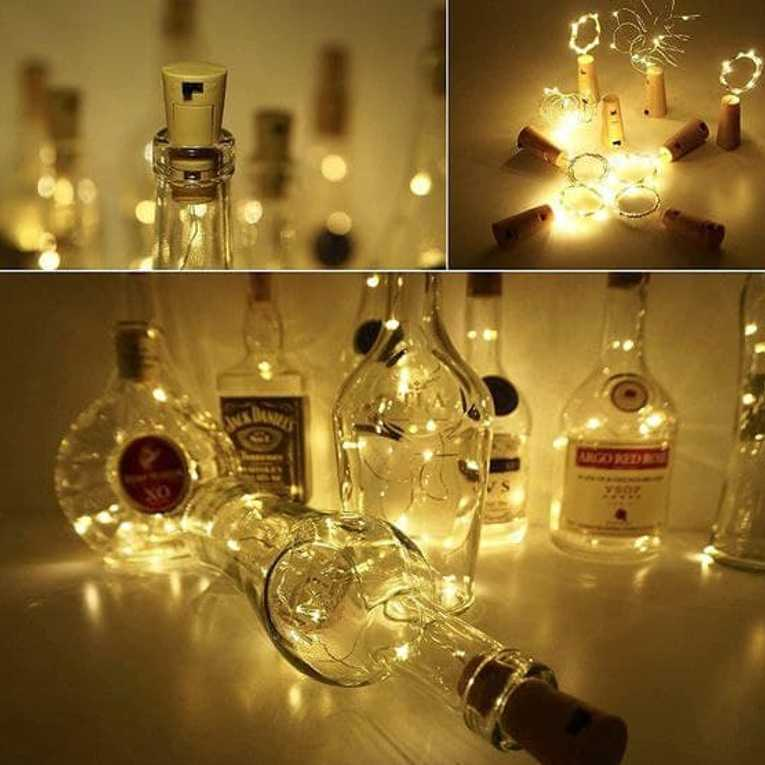 Wine Bottle Cork Fairy Lights Copper Wire String Battery Operated for Diwali Bedroom Decoration Warm White 9