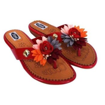 Synthetic Printed Flat Slipper for Women