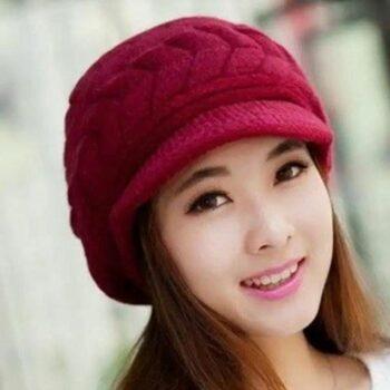 Women's Acrylic Faux Fur Winter Caps