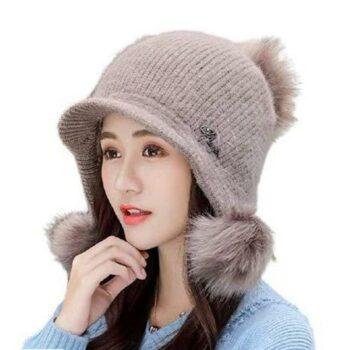 Women's Acrylic Solid Winter Caps