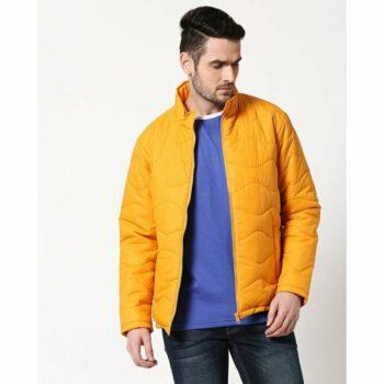Yellow Chill Block Wave Puffer Jacket